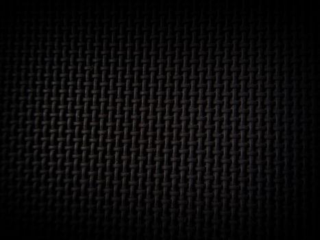 Black fabric texture created on plastic material