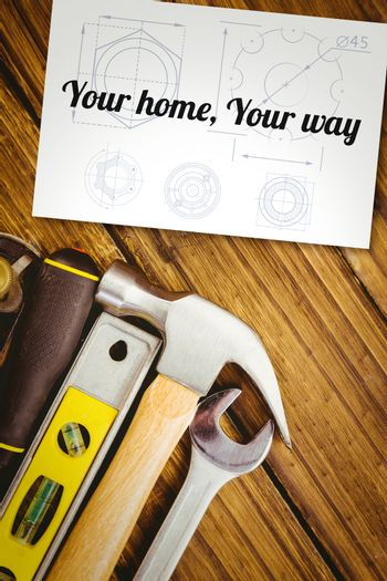 Your home, your way against white card