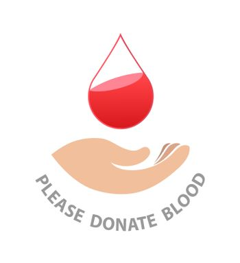 Please donate blood vector