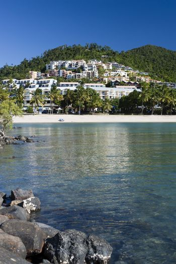 Scenic landscape view of Airlie Beach, Queensland