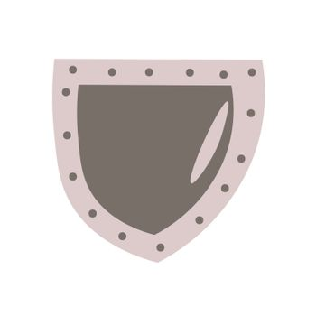 Medieval shield. Vector illustration in hand-drawn style