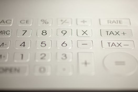 Calculator pad with numbers