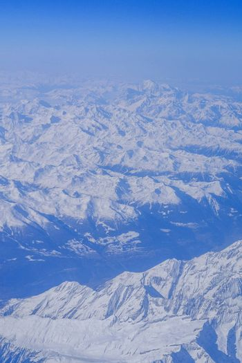 High mountains covered with snow