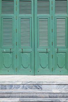 Old Green vintage door