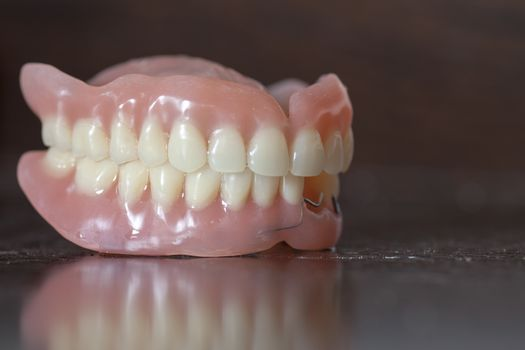 Medical denture on table