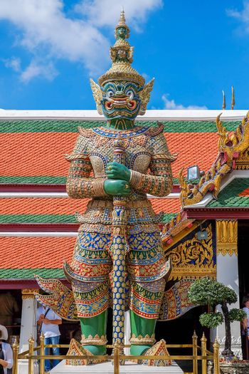 Green Giant in Thailand on Blue sky