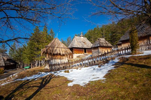 Authentic serbian village Sirogojno, Zlatibor, Serbia