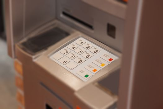 Close up at Automated Teller Machine, stock photo