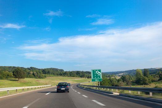 Highway in Serbia, Europe