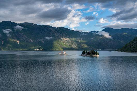 Ostrvo in the Bay of Kotor in Montenegro