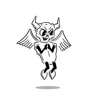 A smirking Evil white devil