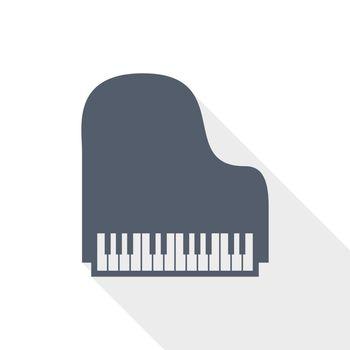 Piano flat design vector icon, instrument concept illustration