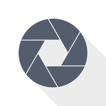 photo shutter vector icon, camera, photography concept illustration