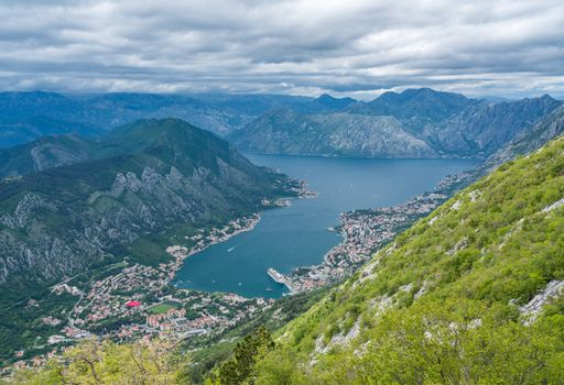 View of Bay of Kotor from Serpentine road