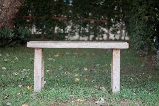 Wooden bench in the park, stock photo