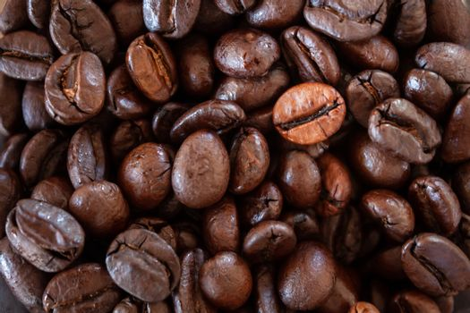Close up coffee beans background, stock photo