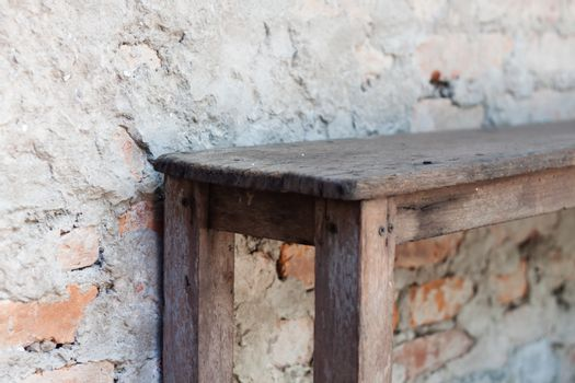 Wooden bench in the garden , stock photo