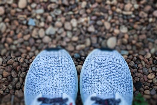 Top view of casual shoe, stock photo