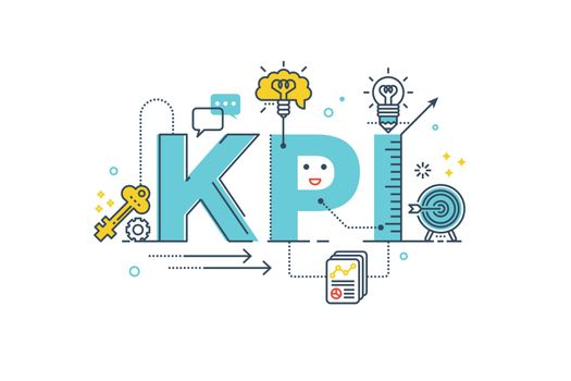 KPI : Key Performance Indicator word