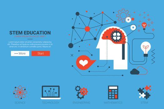 STEM website concept