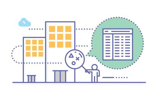Company inspection illustration
