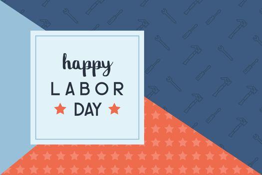 Happy labor day background illustration