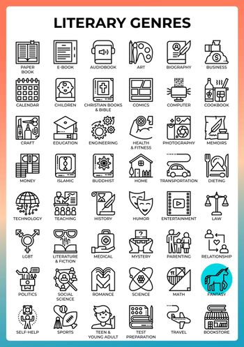 Literary Genres icons