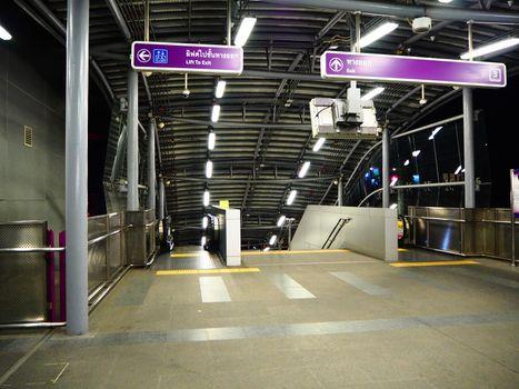 Arrival and departure of Metropolitan Rapid Transit in Thailand.