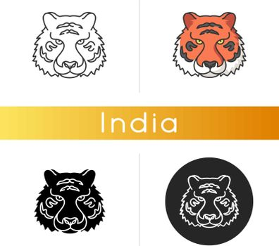 Bengal tiger icon