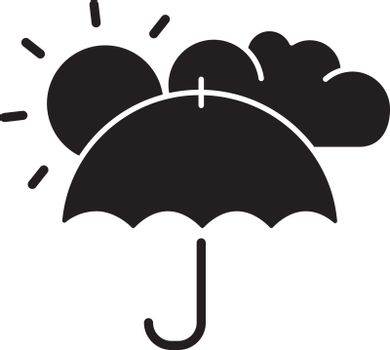 Meteorology black glyph icon