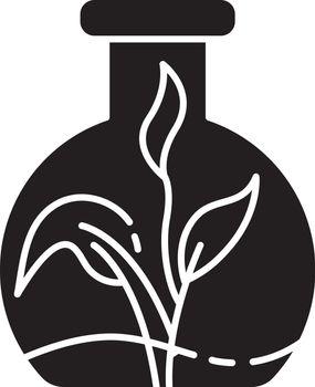 Botany black glyph icon