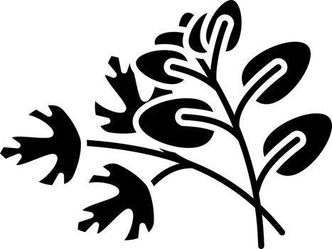 Fresh herbs black glyph icon