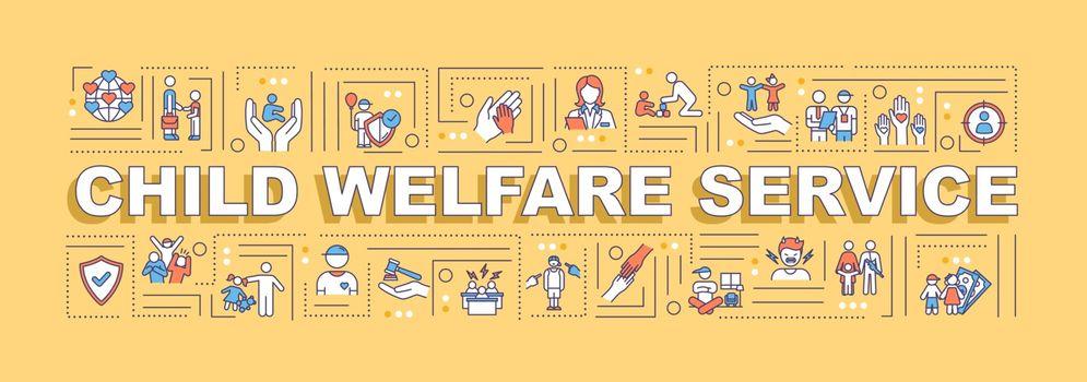 Child welfare service word concepts banner
