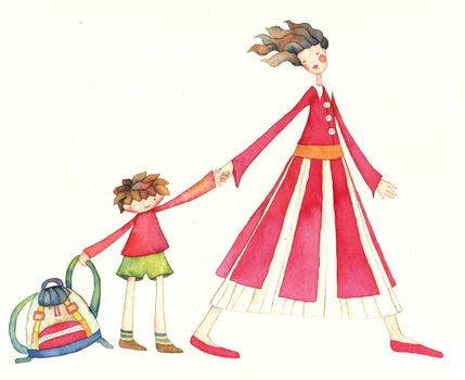 FIRST SCHOOL DAY ,illustration