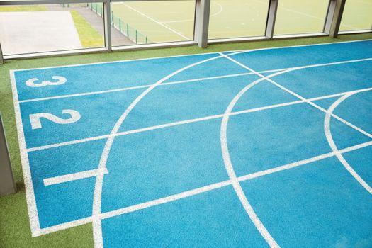 Indoor running track