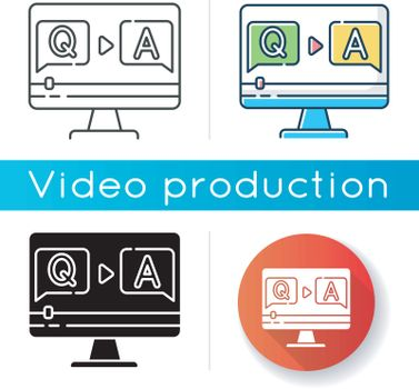 Question and answer video icon