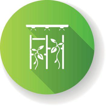 Vertical garden green flat design long shadow glyph icon