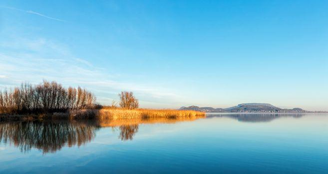 Landscape from Hungary from the lake Balaton
