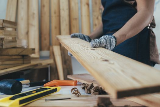 DIY woodwork and furniture making concept.