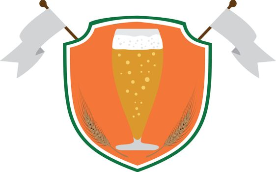 Logo for beer company or pub vector illustration in irish flag colors