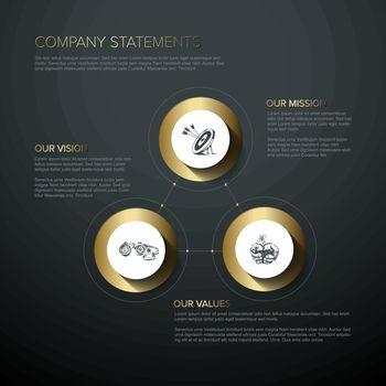 Company profile statement - mission, vision, values