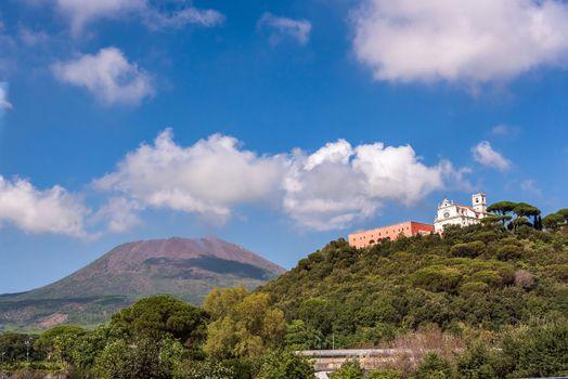 View of Missionari Redentoristi Colle Sant alfonso and Mount Vesuvius