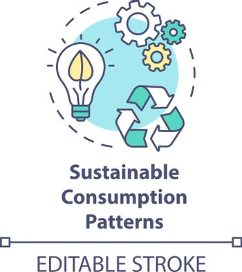 Sustainable consumption pattern concept icon