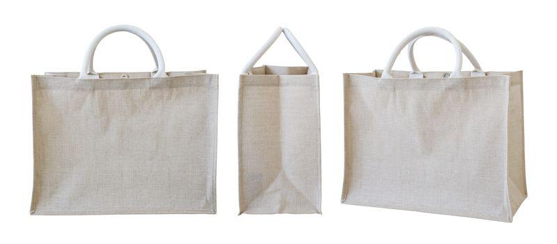Sackcloth bag isolated on white background
