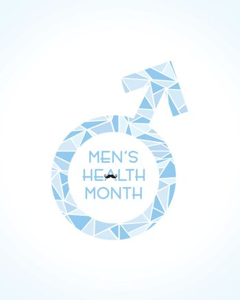 Vector illustration for men's health awareness month which is observed in month of JUNE
