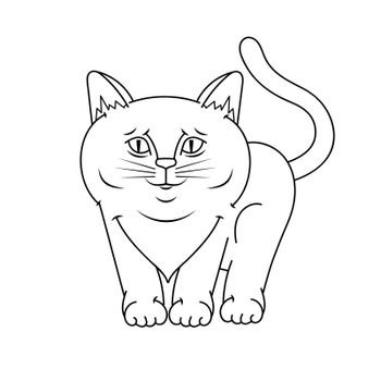 cat graphic Vector Illustration Suitable For Greeting Card, Poster Or T-shirt Printing.