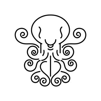 Octopus Logo Vector Illustration Suitable For Greeting Card, Poster Or T-shirt Printing.