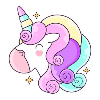 Unicorn. Vector illustration Suitable For Greeting Card, Poster Or T-shirt Printing.