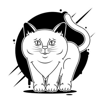 Cat face design vector on white background, pet. Animals.