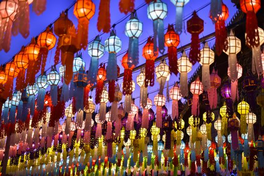 Lanterns for both Thai and Chinese happiness festivals